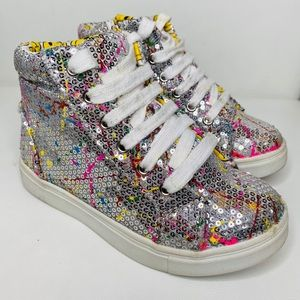 Justice sequins high tops for girls size 13